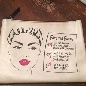 Macy's cosmetic makeup bag zipper bag